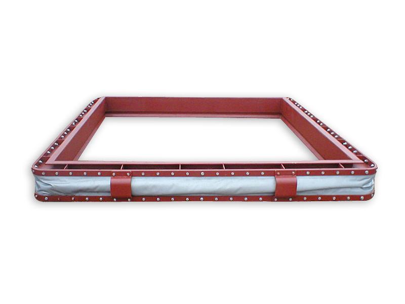 przygotowany do montażu kompensator tkaninowy kanałów spalin typ 21 (temperatura pracy 180°C