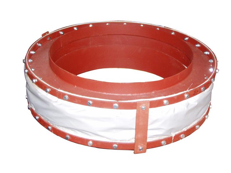 kompletny kompensator tkaninowy typ 21 dla temperatury 300°C z końcówkami do wspawania